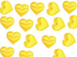 Aplikacje serca miękkie cytrynowe 15mm