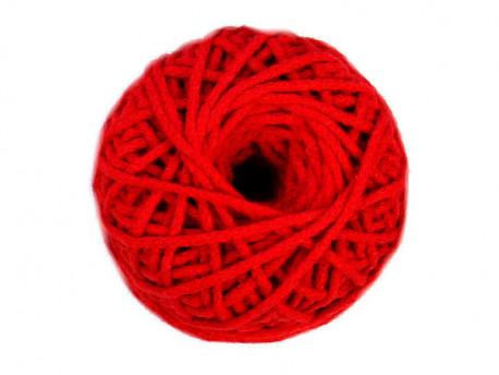 Sznurek Bawełniany 3mm shamballa - czerwony