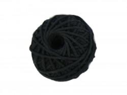 Sznurek bawełniany 3mm czarny 50m
