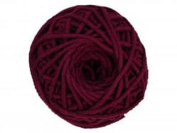 Sznurek bawełniany 3mm bordowy/śliwkowy 50m