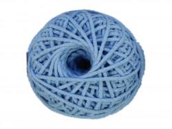 Sznurek bawełniany 3mm błękitny 50m