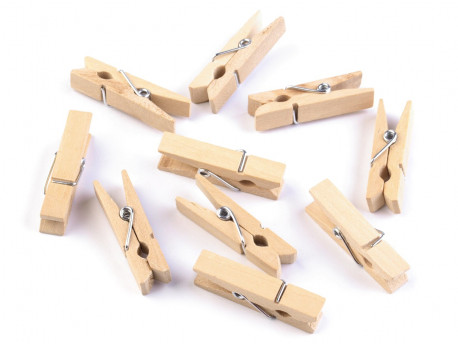 Drewniane klamerki duże, spinacze - 2szt, naturalne