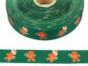 Wstążka rypsowa 20mm ciasteczka zielona