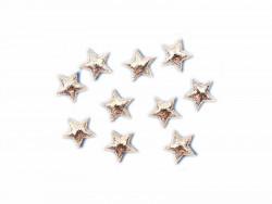 Aplikacje gwiazdki 17mm srebrne