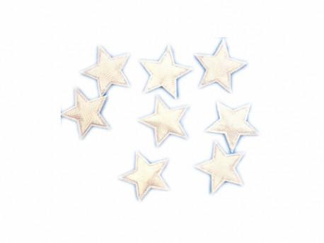 Aplikacje gwiazdki 17mm białe
