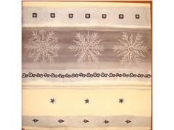 Serwetki Decoupage - Pierwsze płatki śniegu srebrne