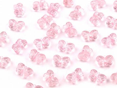Koraliki motylki różowe jasne 5x9mm