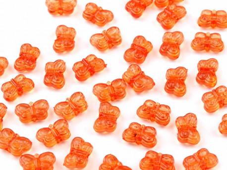 Koraliki motylki pomarańczowe 5x9mm