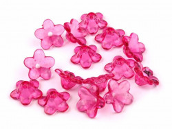 Kwiatki akrylowe 12mm różowe
