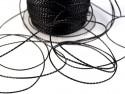 Sznurek z lureksem - czarny 5m