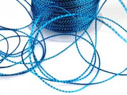 Sznurek z lureksem niebieski 1mm