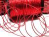 Sznurek z lureksem czerwony 1mm