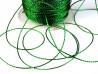 Sznurek z lureksem zielony 1mm