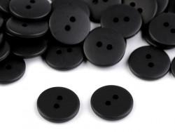 Guziki RETRO czarne - 2 dziurki