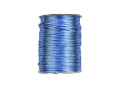 Sznurek satynowy 2mm błękitny
