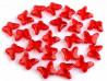 Koraliki motylki czerwone 15x18mm