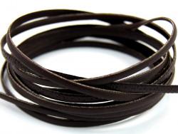 Rzemyk płaski 3mm brązowy