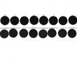 Rzep kółka 25mm z klejem czarny