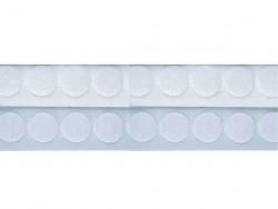 Rzep kółka 25mm z klejem biały