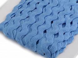 Tasiemka ząbki 9mm - niebieska