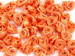 Atłasowe różyczki 5szt - pomarańczowe