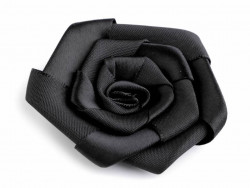 Róża satynowa 50mm czarna