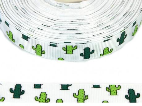 Tasiemka rypsowa 15mm kaktusy