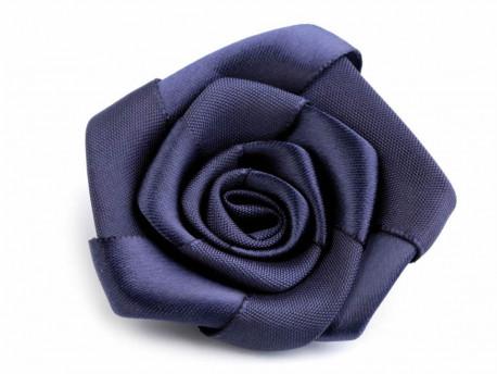 Róża satynowa 50mm granatowa