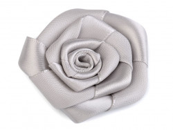 Róża satynowa 50mm szara