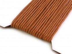 Sznurek woskowany 2mm brązowy jasny