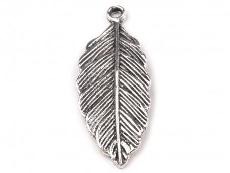 Zawieszka metalowa liść