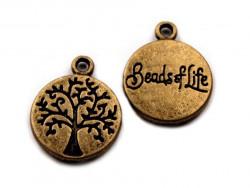Zawieszka metalowa drzewo życia medalion