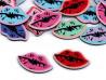 Guziki plastikowe usta KISS KISS