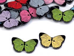 Guziki plastikowe motylek