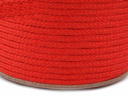 Sznurek poliestrowy 5mm - czerwony