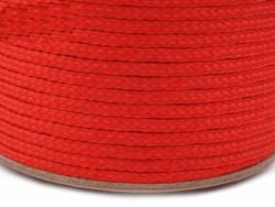 Sznurek poliestrowy 5mm - czerwony 100m