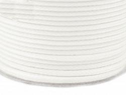 Sznurek poliestrowy 5mm - biały 100m