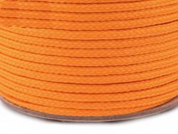 Sznurek poliestrowy 5mm - pomarańczowy 100m