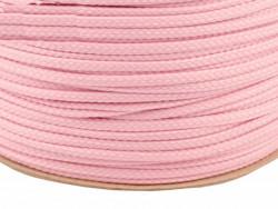 Sznurek poliestrowy 5mm - różowy jasny 100m