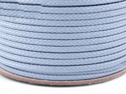 Sznurek poliestrowy 5mm - błękitny 100m