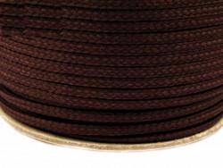 Sznurek poliestrowy 5mm - brązowy 100m
