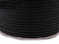 Sznurek poliestrowy 5mm - czarny 100m