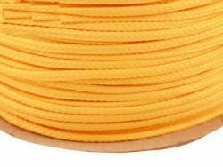 Sznurek poliestrowy 5mm - żółty ciemny 100m