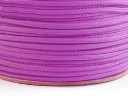 Sznurek poliestrowy 5mm - fioletowy jasny 100m