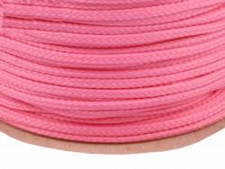 Sznurek poliestrowy 5mm - różowy brudny