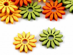 Kwiatki drewniane 19mm mix kolorów