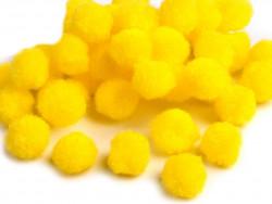 Pompony żółte 20mm - 10szt