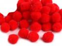 Pompony czerwone 20mm - 10szt