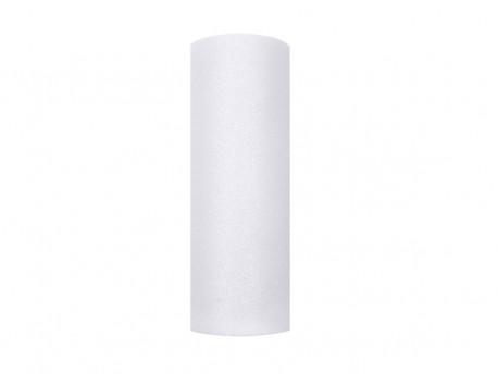 Tiul z brokatem biały 15x25cm
