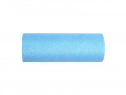 Tiul z brokatem błękitny 15x25cm